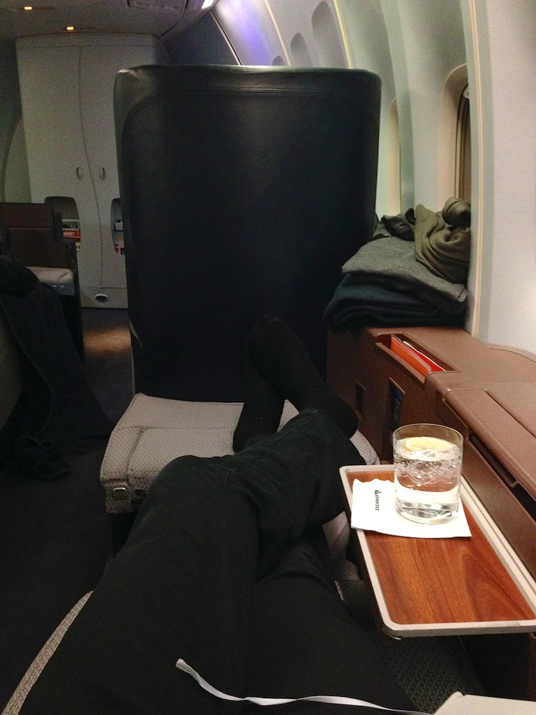 Hong Kong Qantas A380 Business Class review