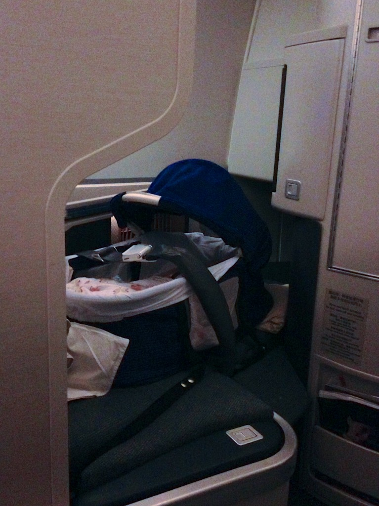 Qantas Business Class Baby Bassinet