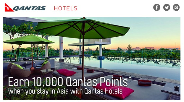 Qantas Hotels Asia 10k offer