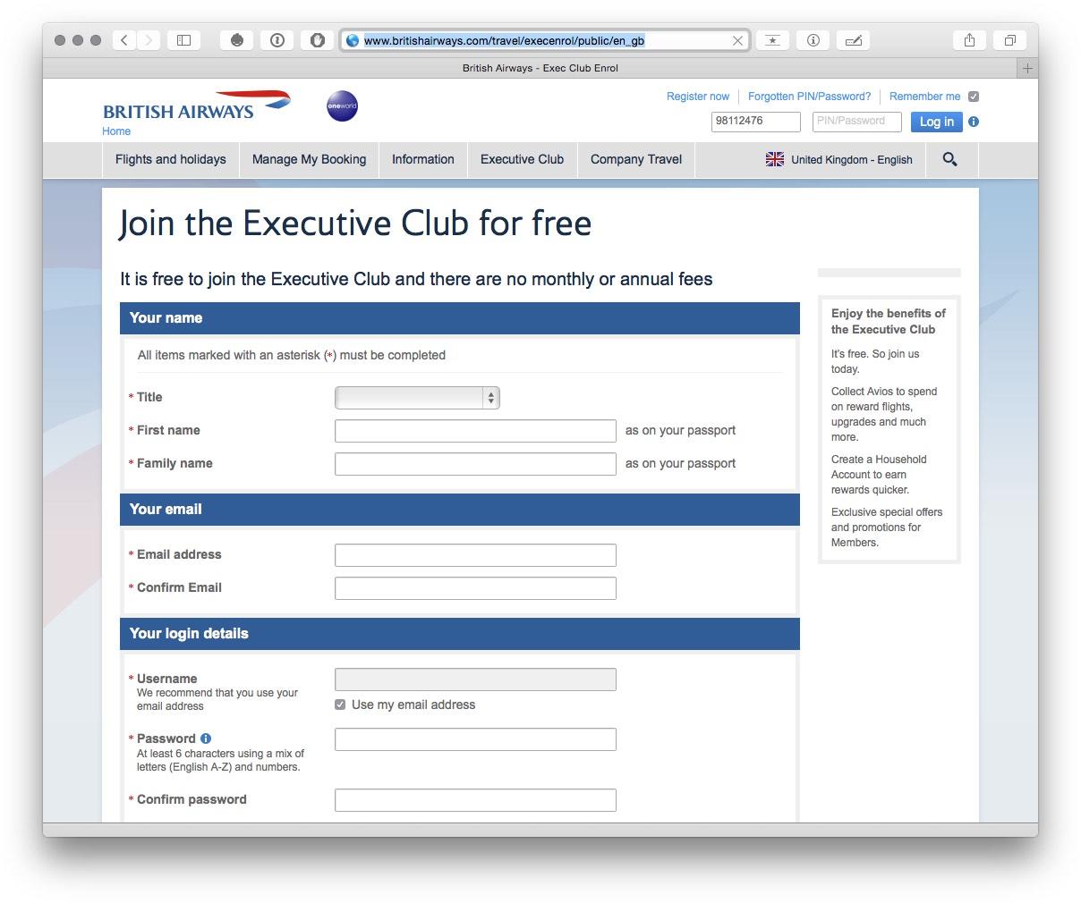 Join BA Executive Club