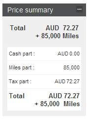 Etihad Miles for Business Class