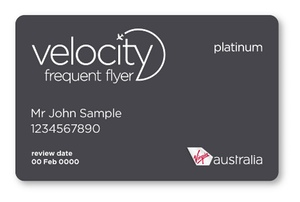 Virgin Australia Velocity Frequent Flyer Platinum Card example | Point Hacks