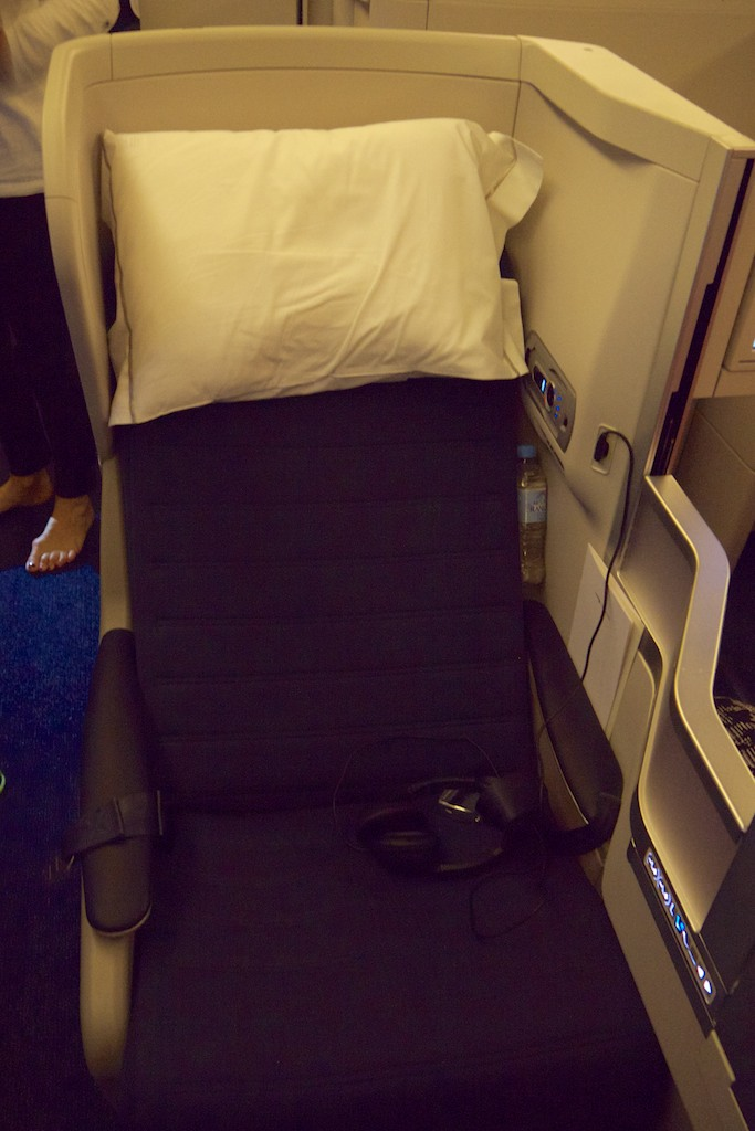 British Airways 777 Club World Business Class aisle seat
