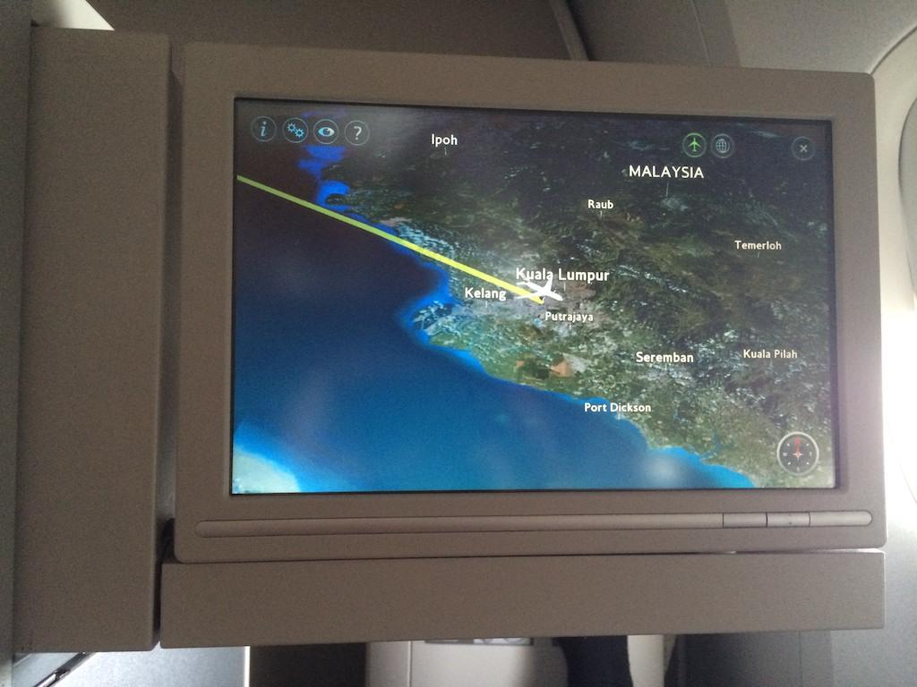5 Waking up over Malaysia - British Airways Club World - BA15 - London to Sydney
