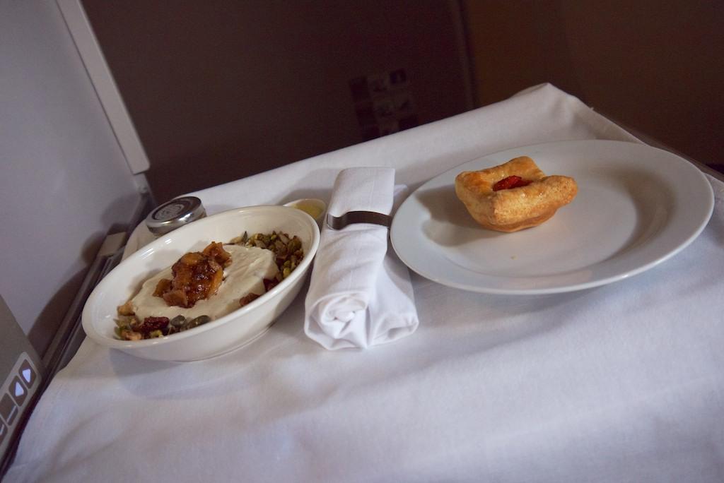 7 Breakfast - British Airways Club World - BA15 - London to Sydney