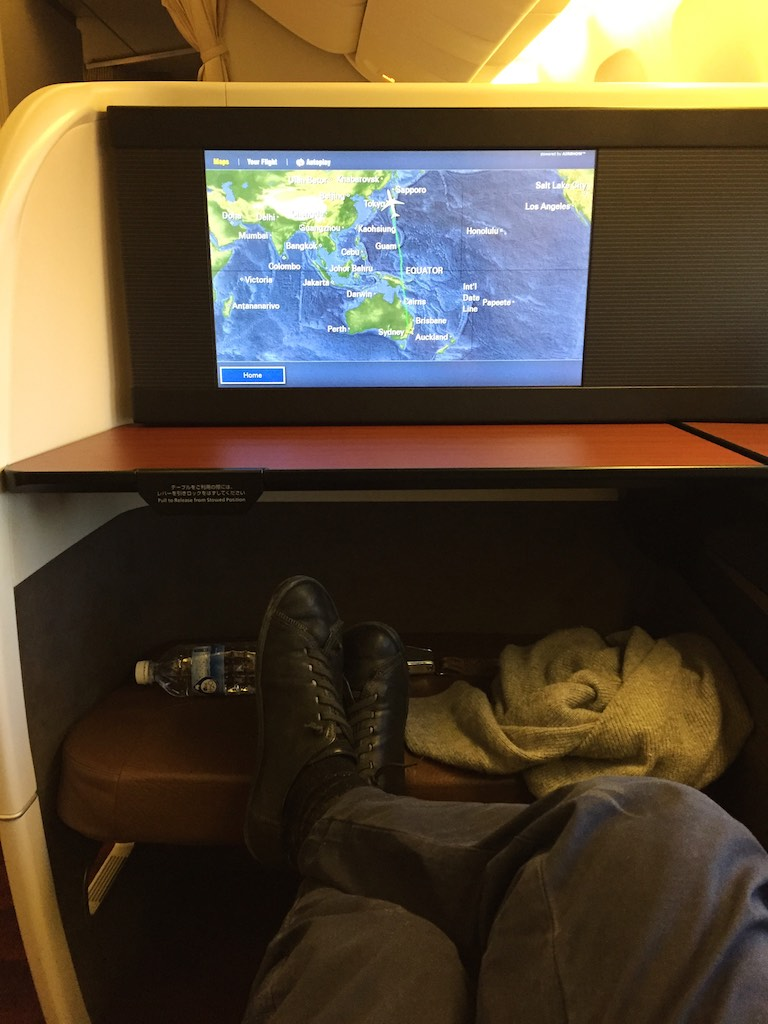 32 Japan Airlines First Class Cabin - JL772 - Sydney - Tokyo   Point Hacks