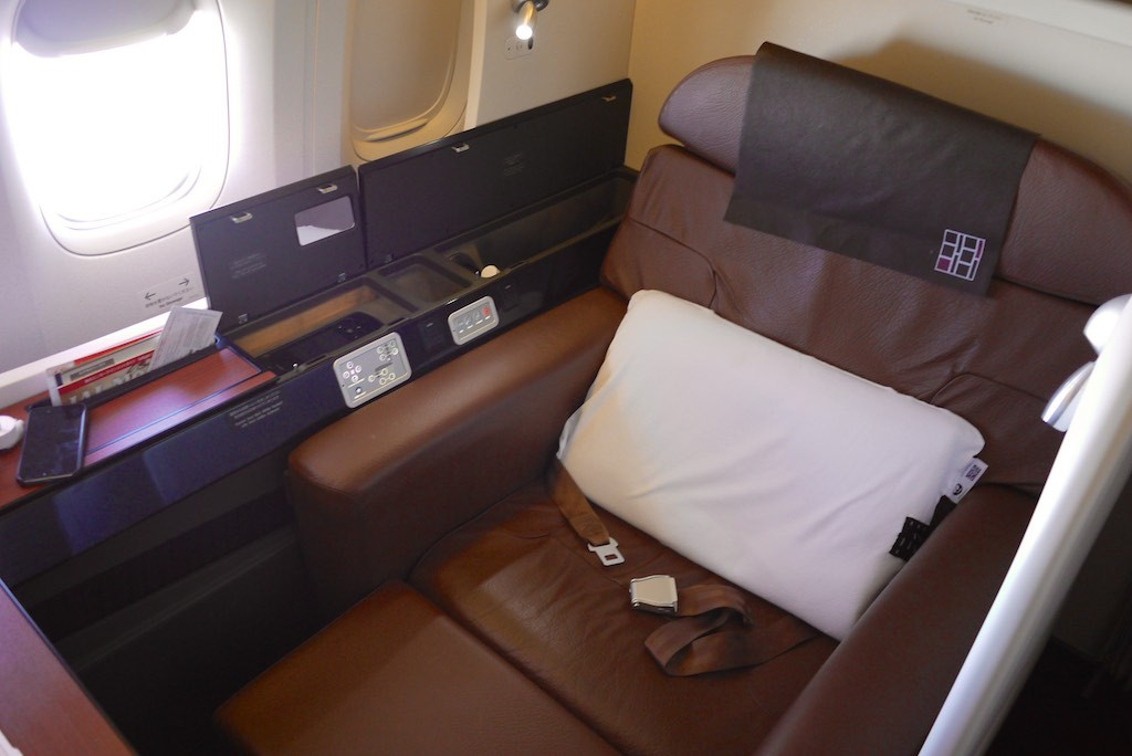 Japan Airlines First Class Cabin | Point Hacks