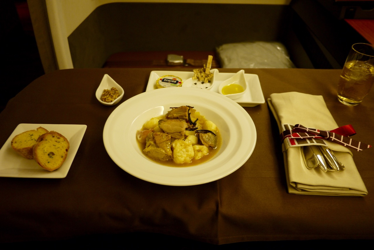 Dinner - Japan Airlines JL771 NRT-SYD First Class Review   Point Hacks