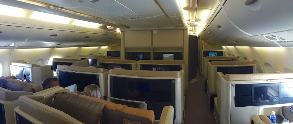 Singapore Airlines A380 Business Class Cabin (1)
