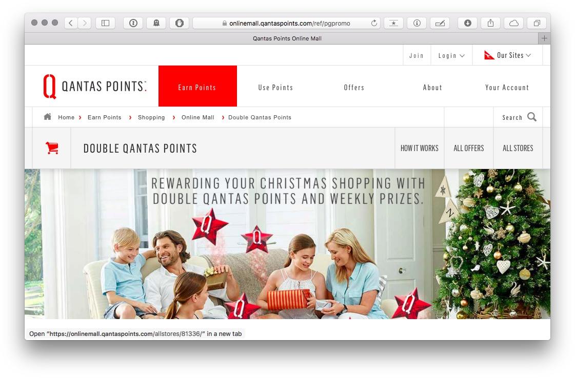 Qantas Online Mall