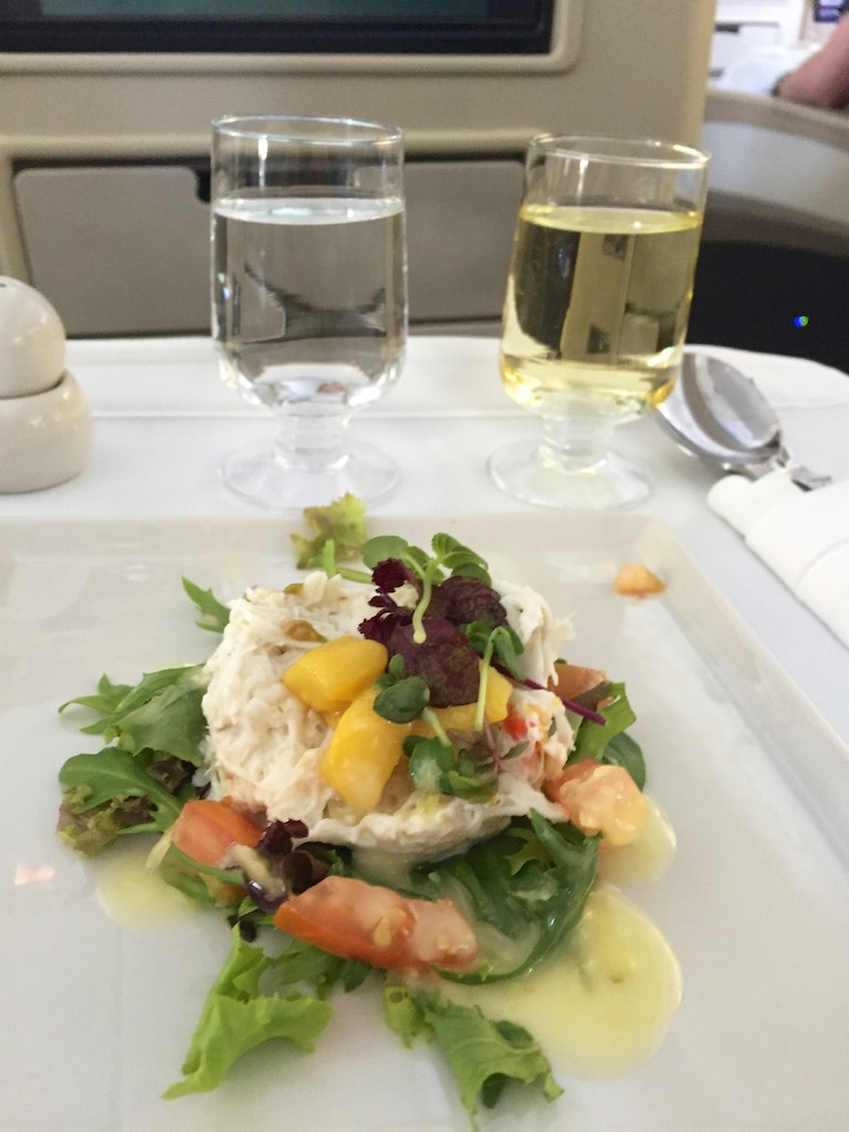 Dinner - Singapore Airlines SQ211 Business Class | Point Hacks