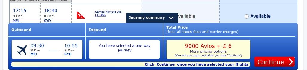BA Qantas Taxes