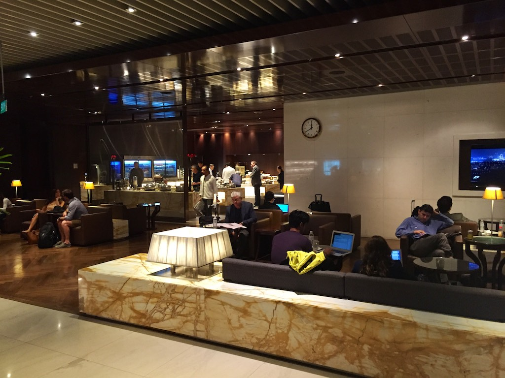 Singapore Airlines Business Class lounge Singapore