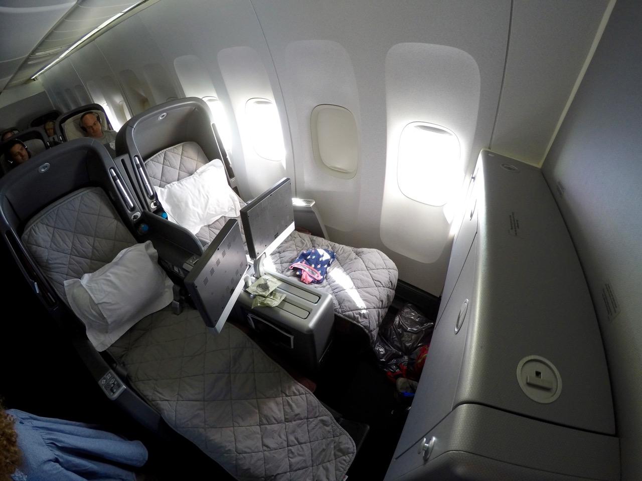 Qantas 747 Business Class seat