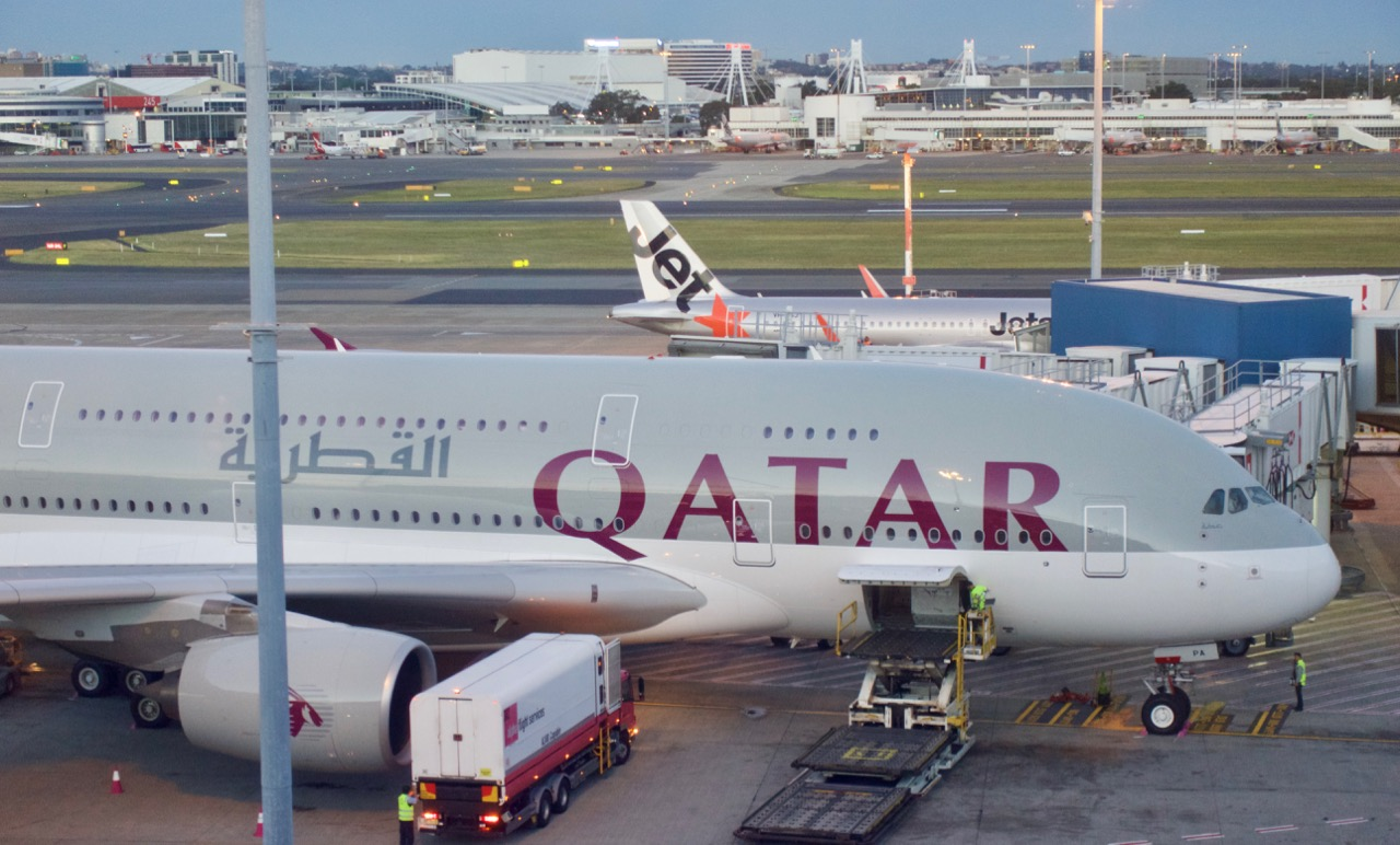 Qatar Airways plane on tarmac
