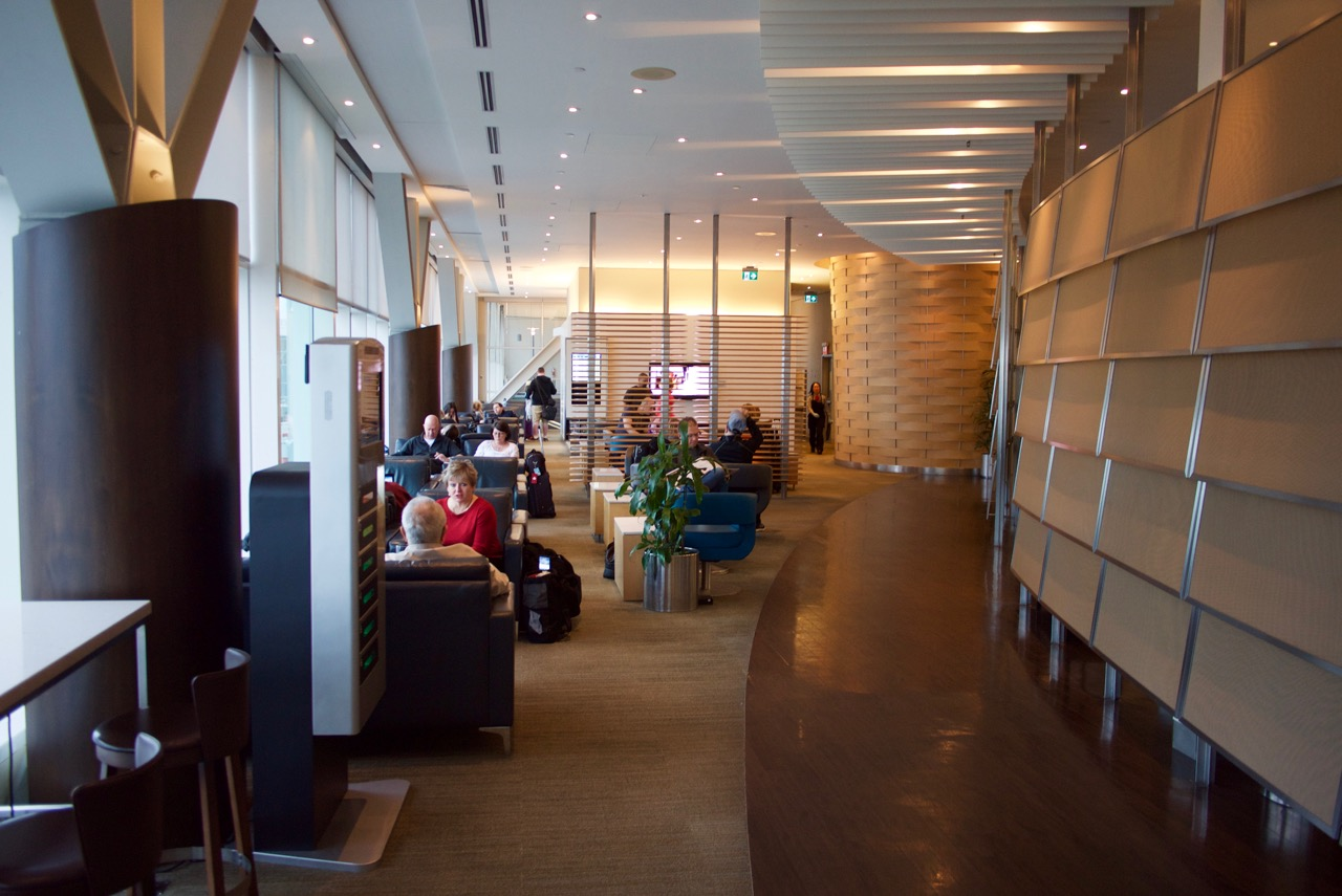 Air Canada's Maple Leaf Lounge