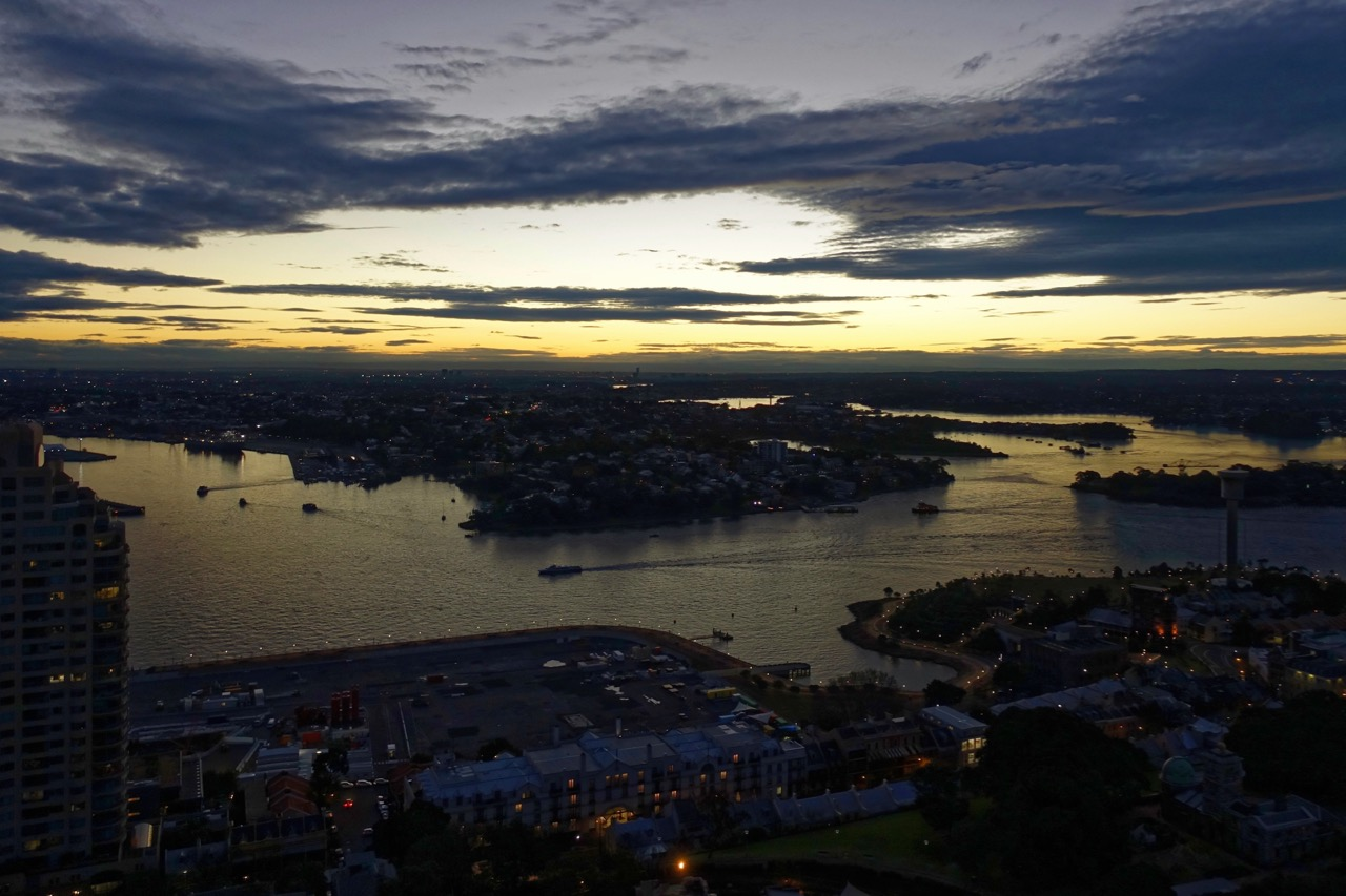 Shangri-La-Sydney-Horizon-Altitude-Bar-Evening-View | Point Hacks