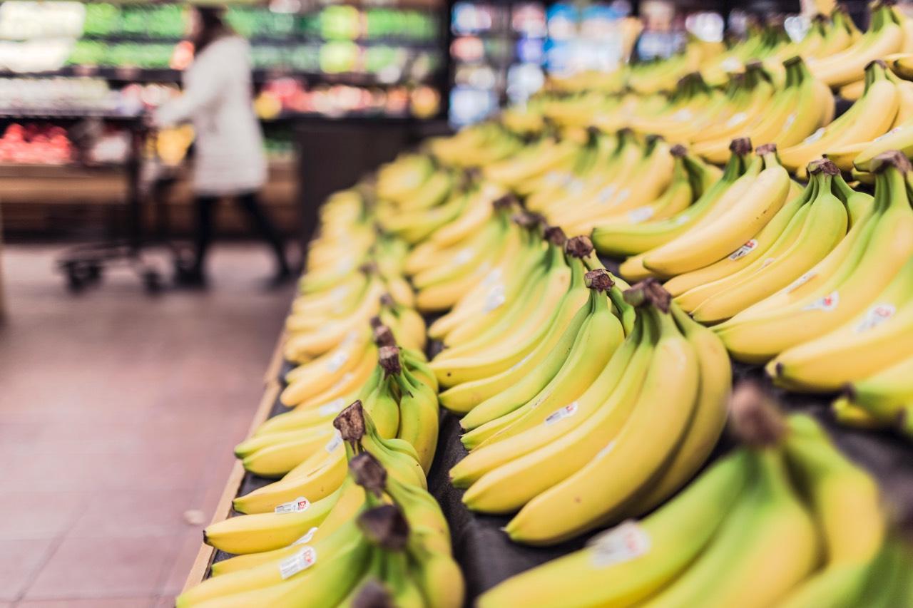 Banana at the supermarket