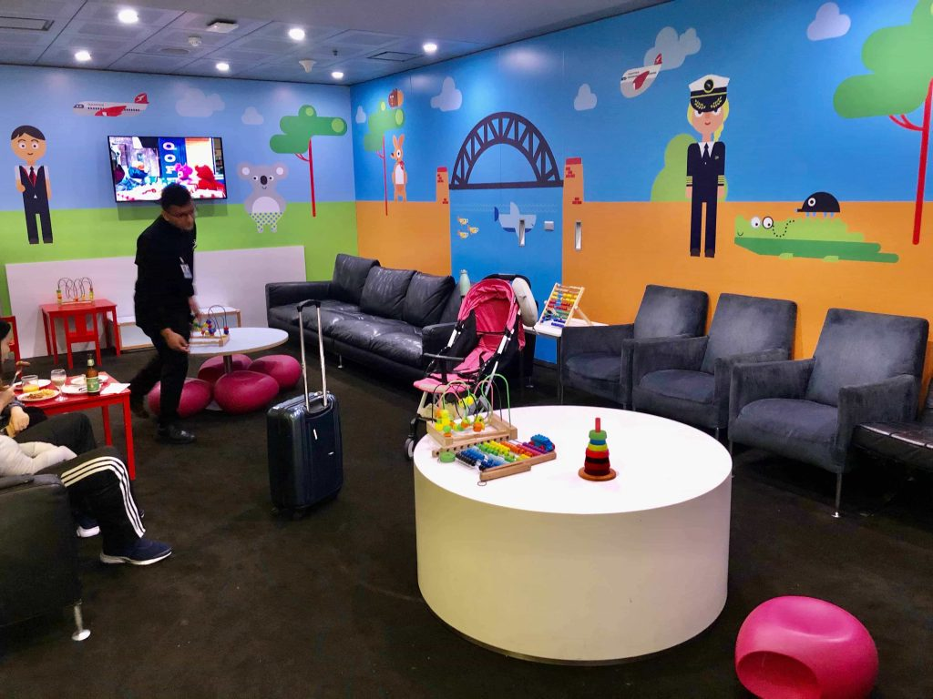 Qantas International Business Lounge Sydney kids' area