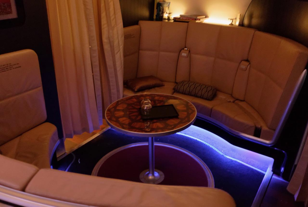 Etihad A380 onboard bar
