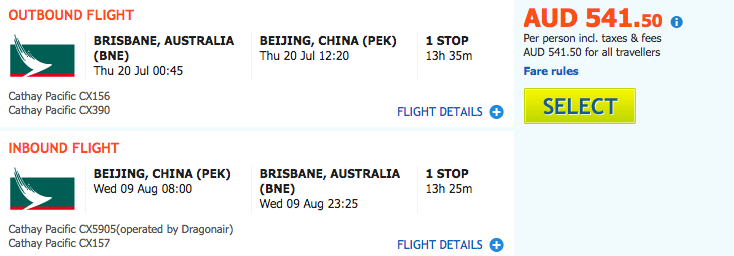 flight-deal-cx-bne-pek