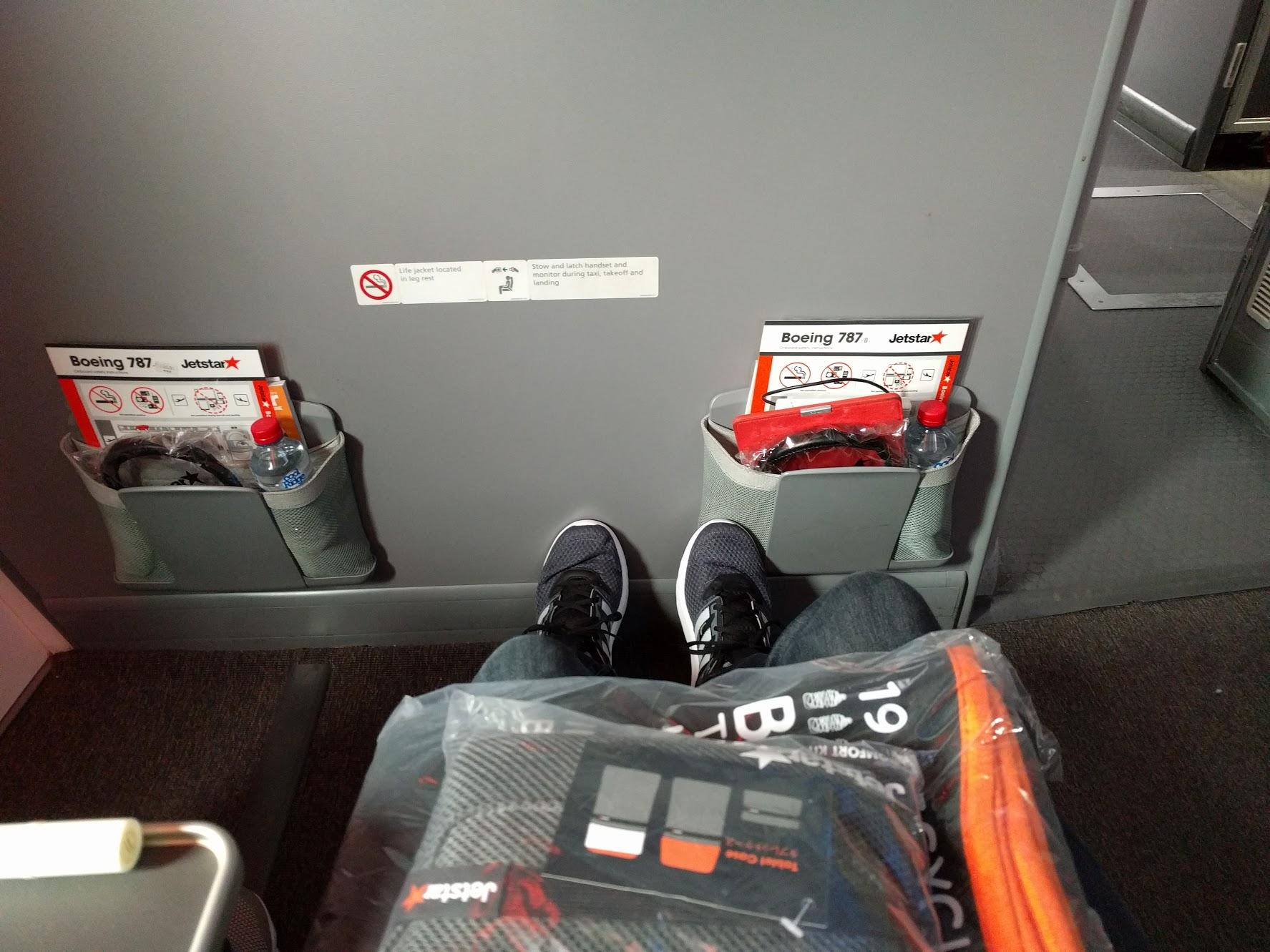 Jetstar Legroom around 1A and 1C