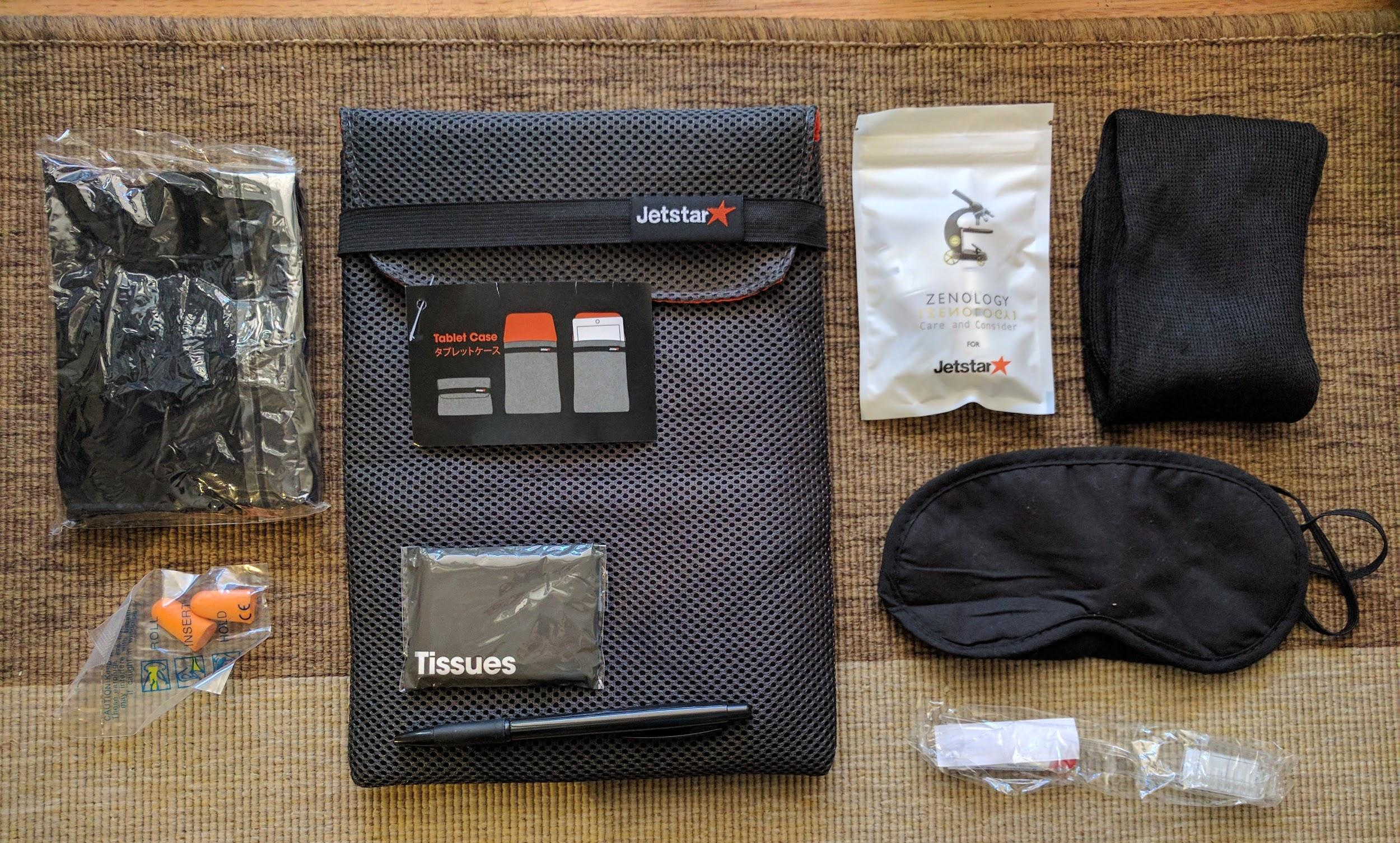 Jetstar Business Class amenities kit
