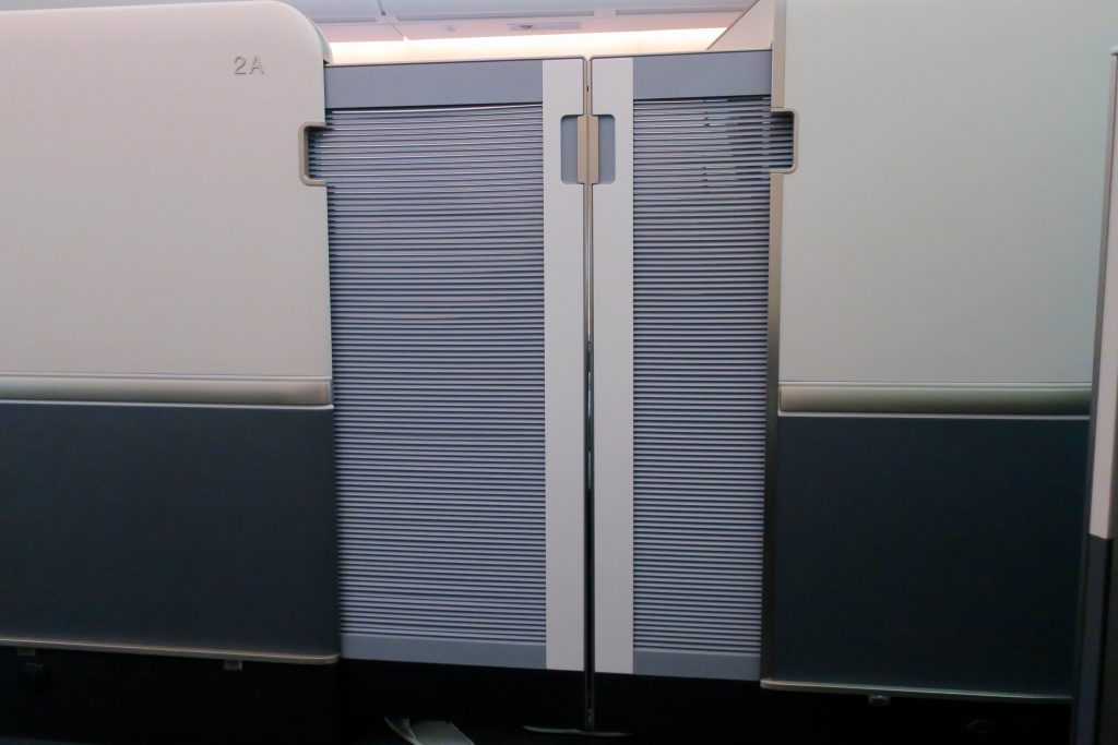 Korean Air 747-8i First Class privacy door