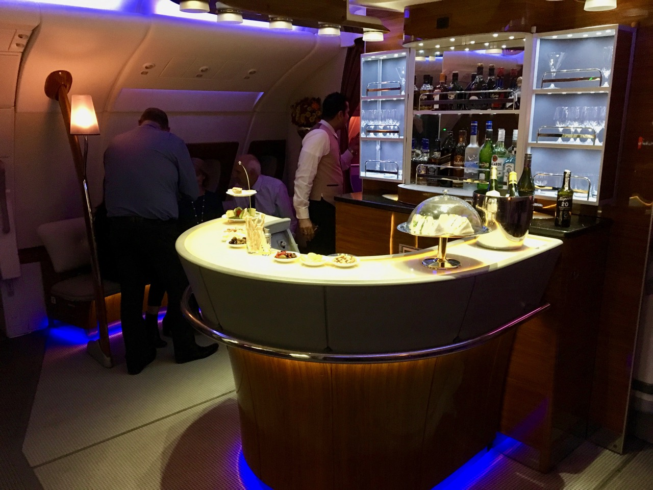 Emirates A380 Trans-Tasman Bar