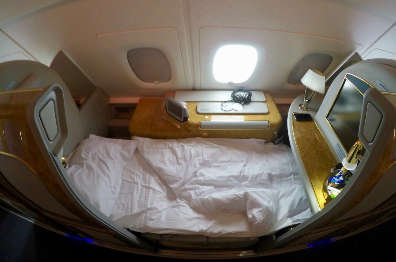 Emirates A380 First Class seat/bed
