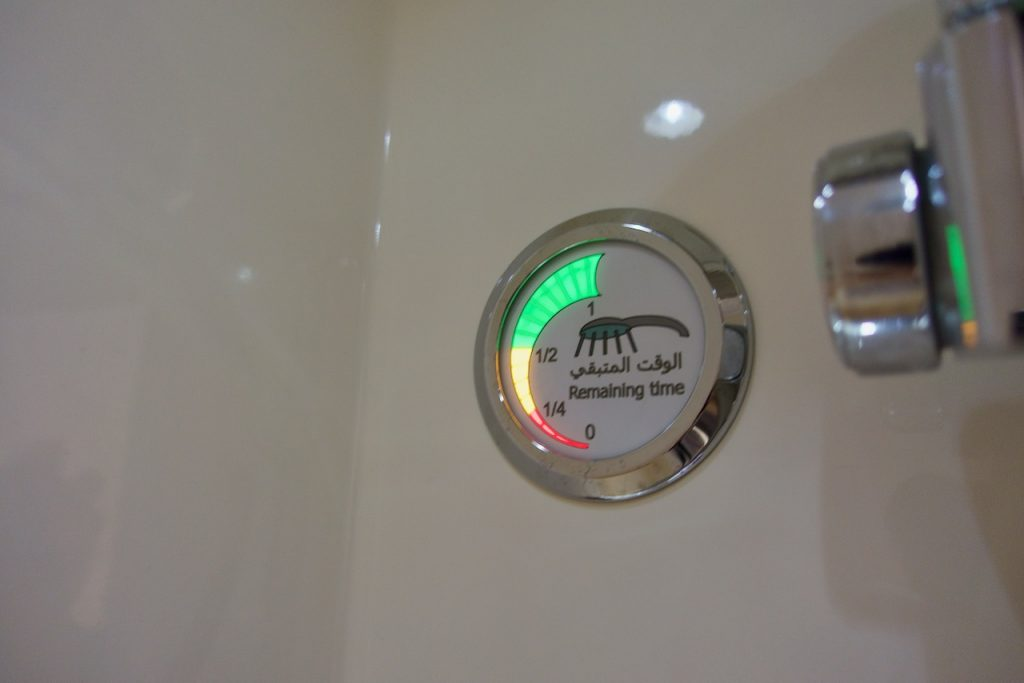 Emirates A380 shower timer