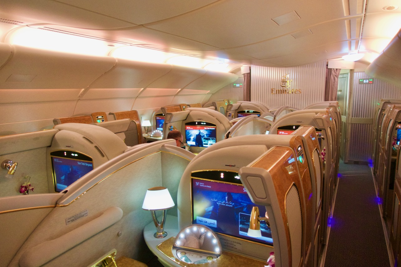 Emirates First Class on the Airbus A380