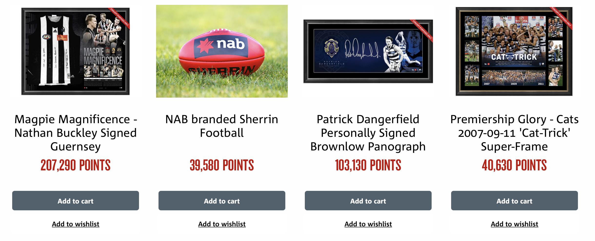 AFL redemption options
