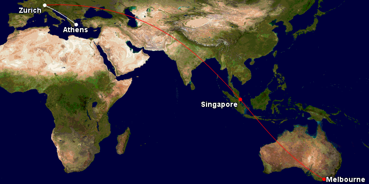 Singapore Airlines and Star Alliance GCMAP