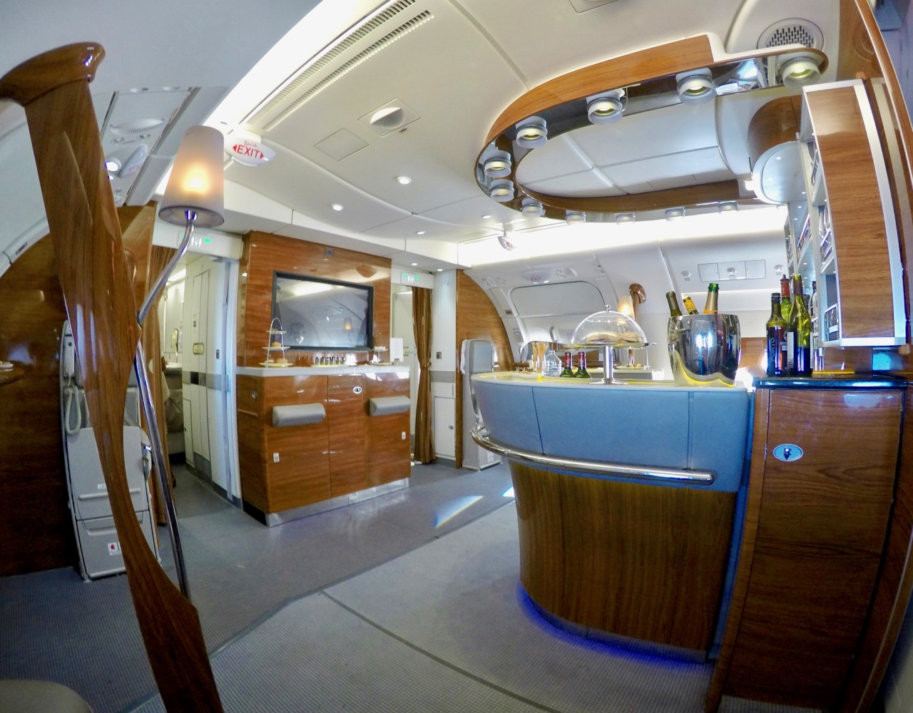 Emirates A380 First Class bar