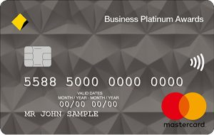 Business Platinum Awards card