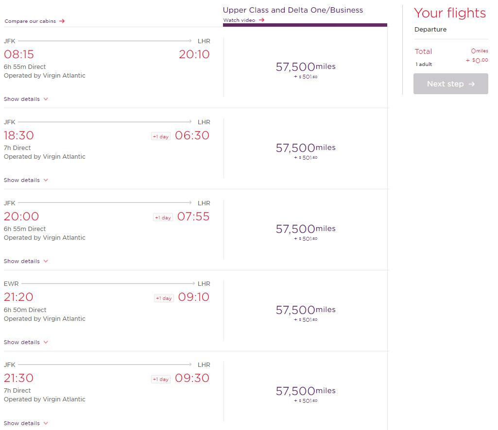 Virgin Atlantic Award Flight | Point Hacks