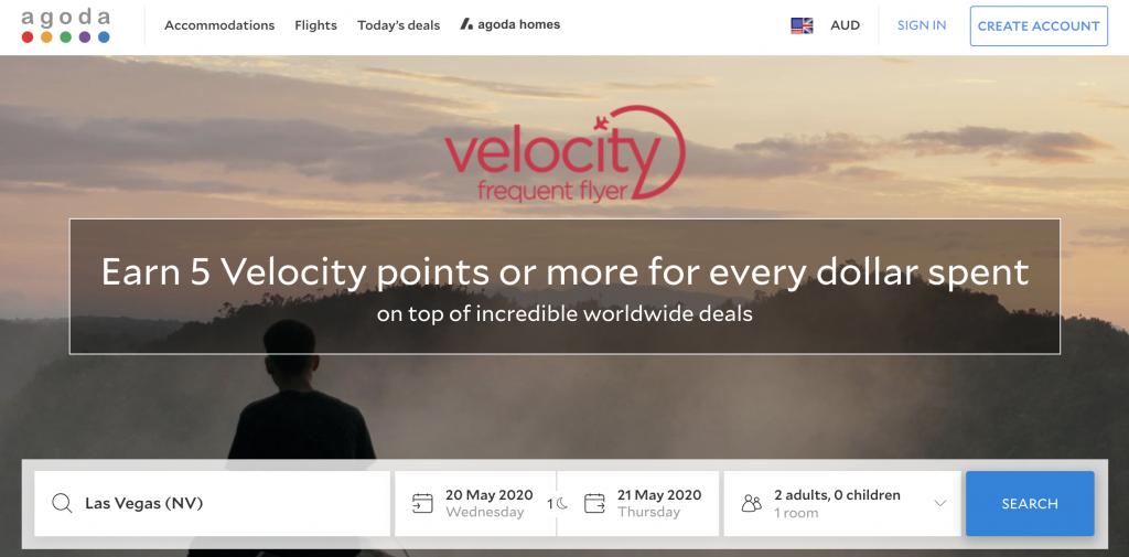 Velocity Agoda hotel booking portal