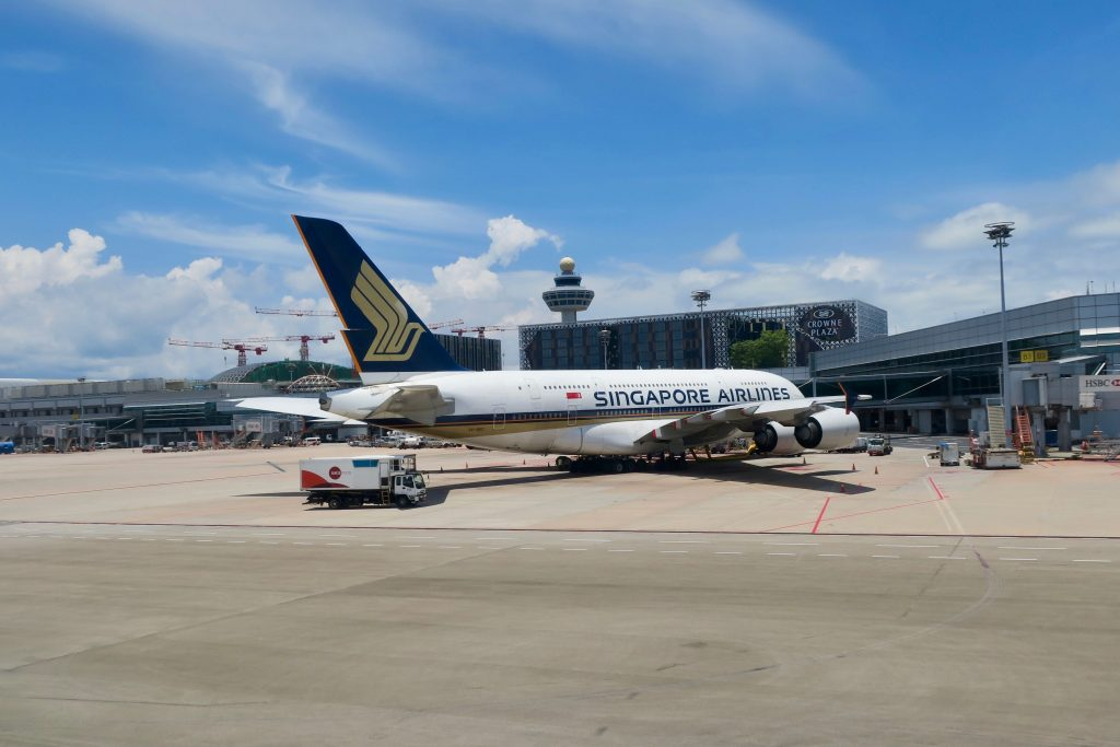 SIngapore Airlines A380 at Singapore | Point Hacks
