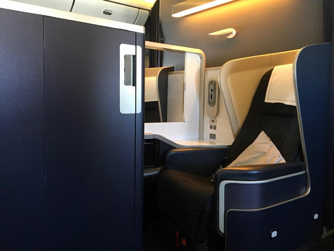 British Airways 777 First Class seat