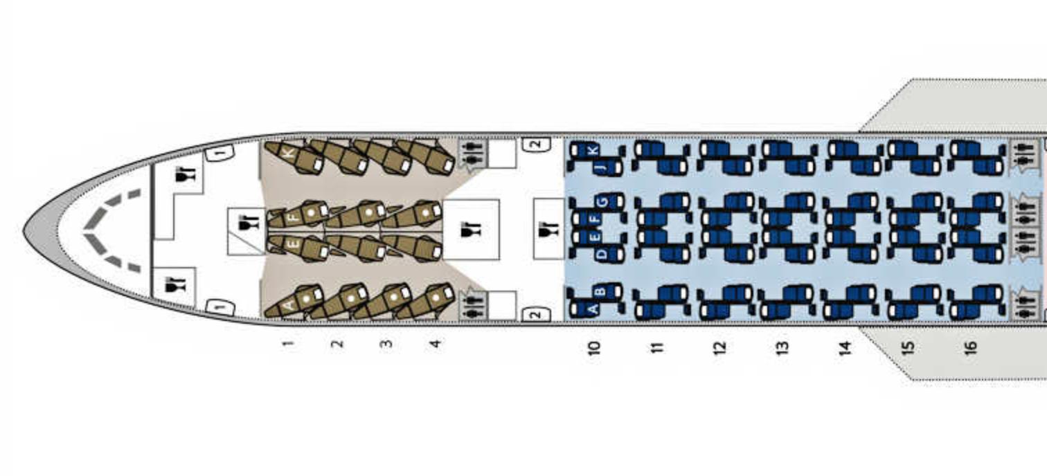British Airways 777 First Class seatmap