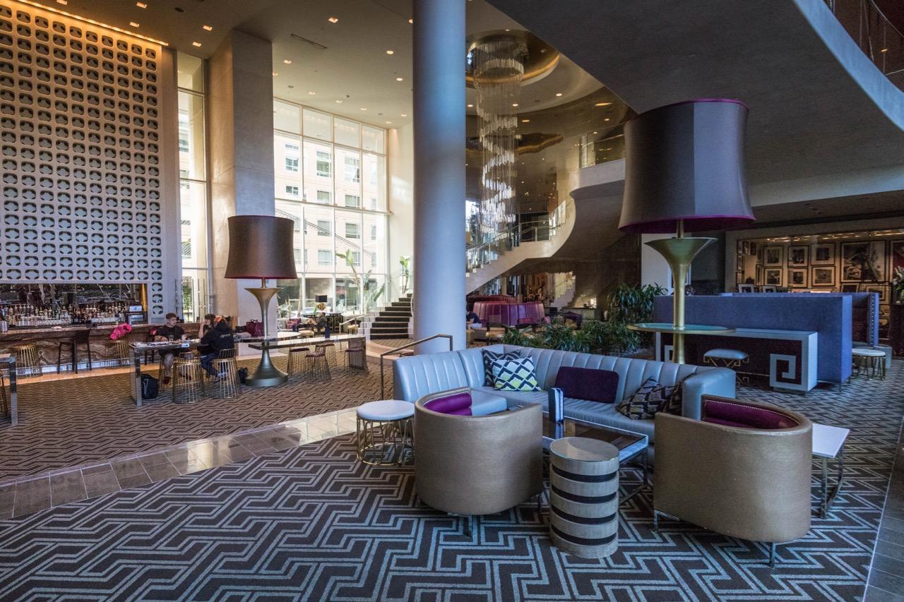 W Hotel Hollywood lobby