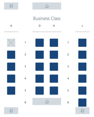 American Airlines 772 Business Class seat map