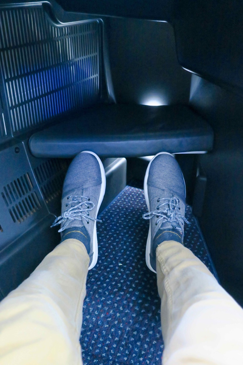 American Airlines 772 Business Class legroom