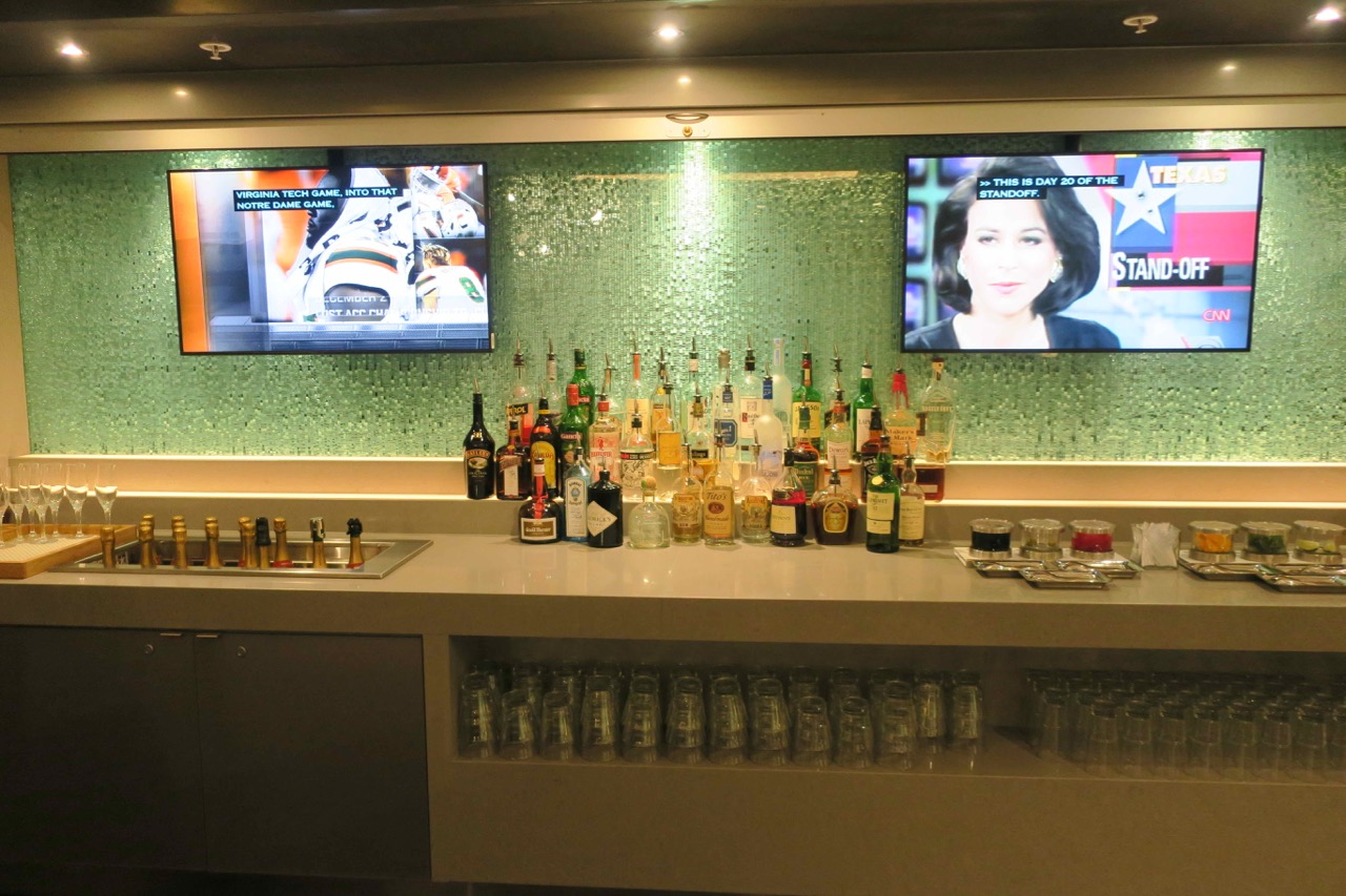 American Airlines Flagship Lounge Miami self-service bar