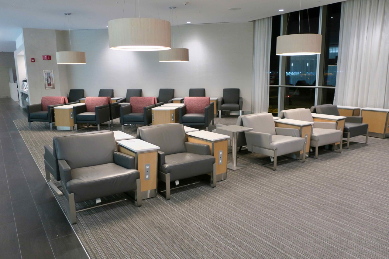 American Airlines Flagship Lounge Miami seating area
