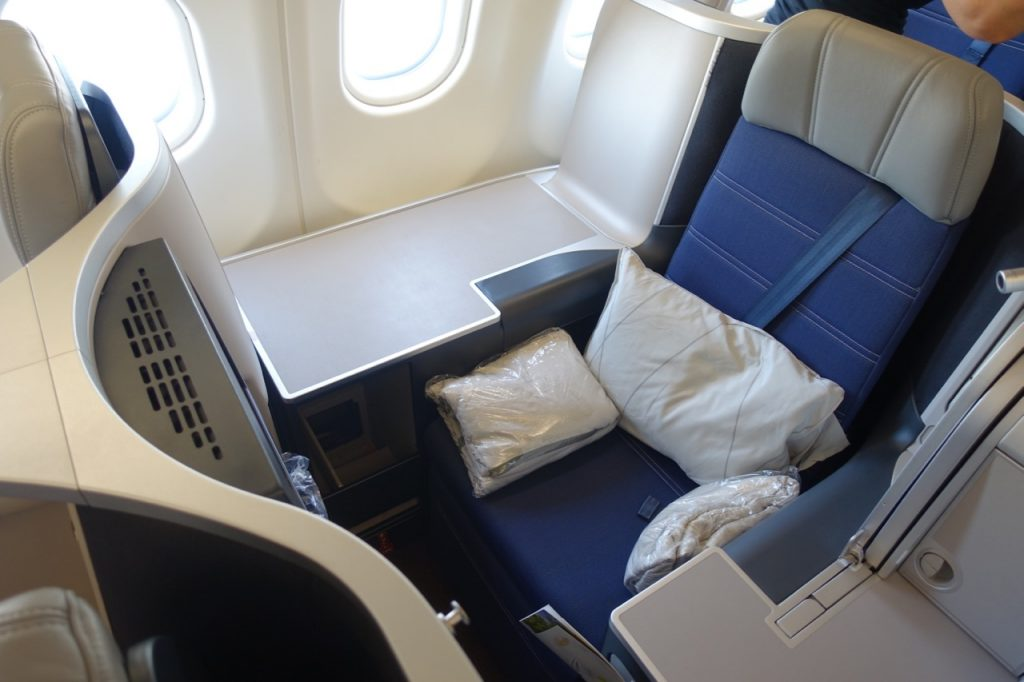 The Malaysia Airlines A330 seat