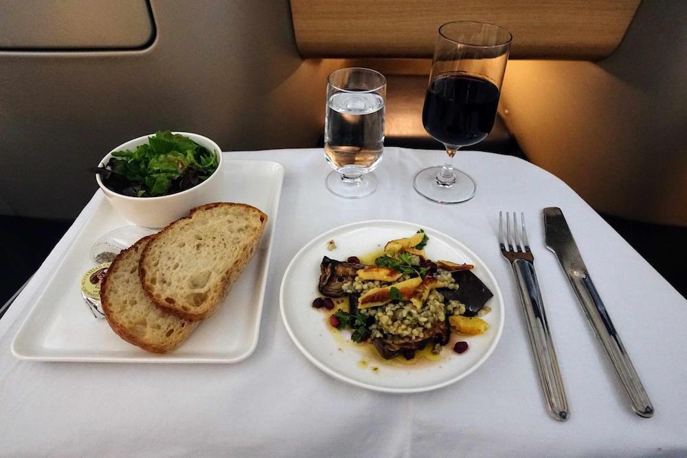 Qantas A330 Brisbane to Narita Food