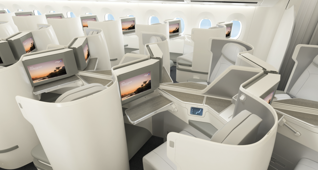 Fiji Airways A350 Business Class cabin