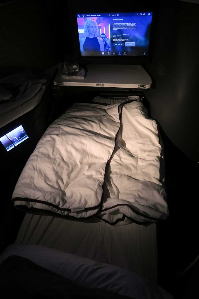 Virgin Australia A330 Business Class lie-flat bed